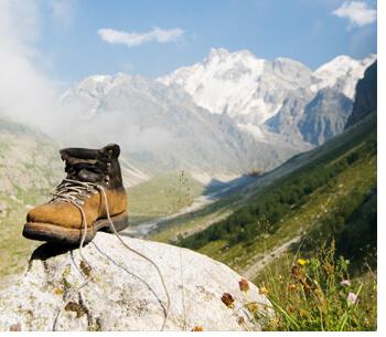 Wandern auf der Zugspitze Bergschuhe