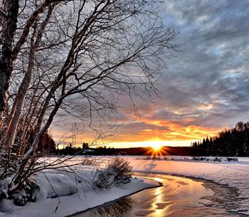 Winterurlaub in Garmisch-Partenkirchen – Sonnenuntergang