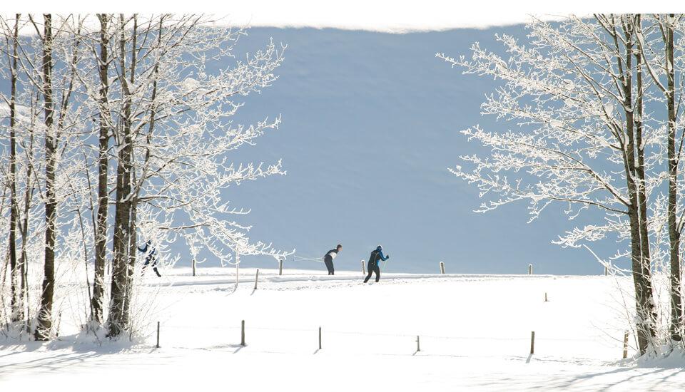 Winterurlaub in Garmisch-Partenkirchen – Langlaufen in Winterlandschaft