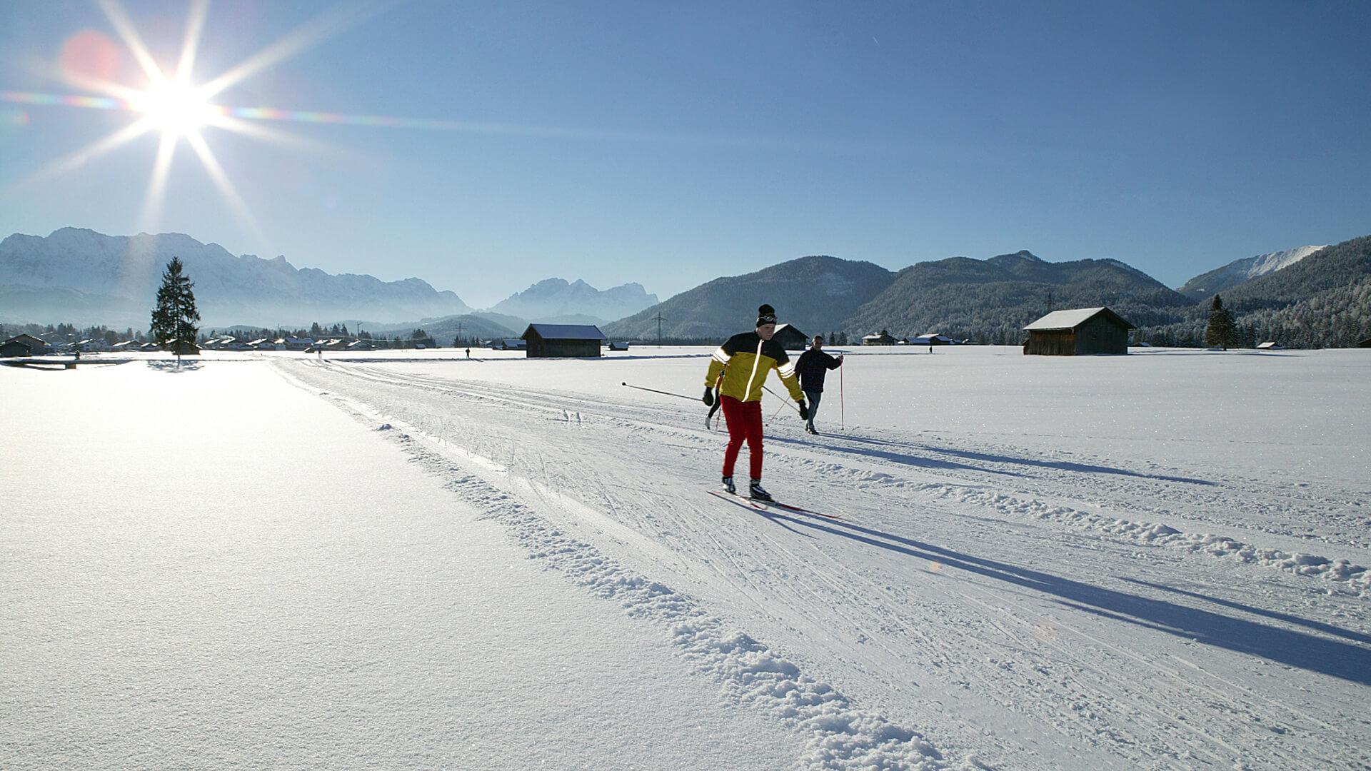 Winterurlaub in Garmisch-Partenkirchen – Langlaufen