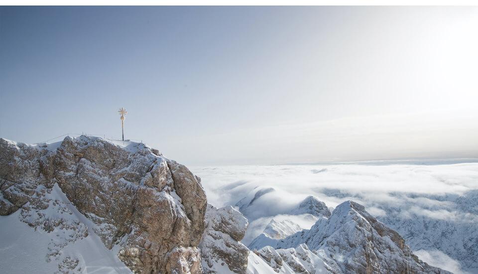 Winterurlaub in Garmisch-Partenkirchen – Zuspitze mit Schnee